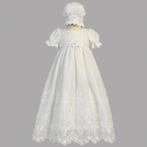 Long White Christening Gown - Madison