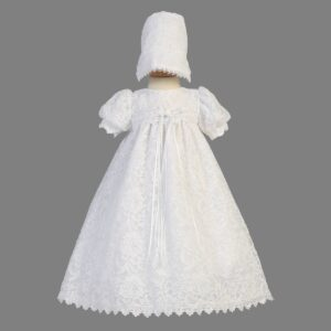 Girls Christening Lace Gown - Victoria