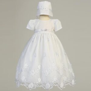 Long Organza Christening Gown