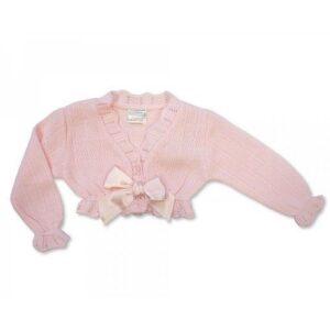Knitted Baby Girls Pink Bolero