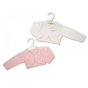 Knitted Baby Girls Bolero Cardigan