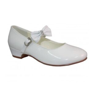 White Leather Communion Shoes