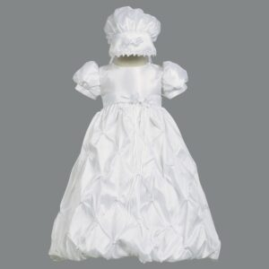 Girls Christening Taffeta Style Gown - Beverly