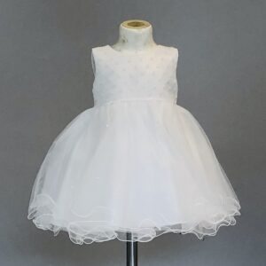 Ivory Tulle & Pearl Occasional Dress