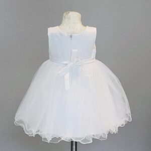 Ivory Tulle & Pearl Occasional Dress Back