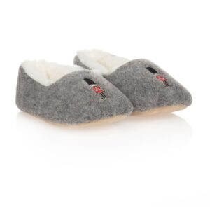 Boys Grey Soldier Slippers