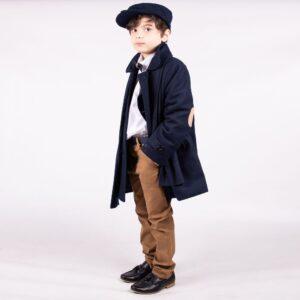 Boys Navy Blue Coat Set