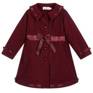 Girls Burgundy Red Coat